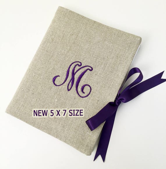 5 X 7 Personalized Photo Album Monogrammed Brag Book Etsy