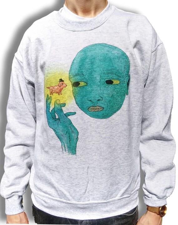 Grunge Sweater, Indie Jumper, Aesthetic Clothing, Men's Grunge Jumper, Alternative Sweater, Men's Alternative Clothing, Men's 90s Sweater