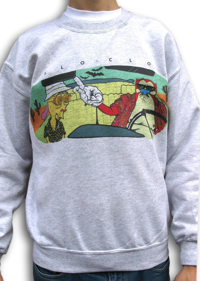 Ren And Stimpy Sweatshirt Fear And Loathing Hunter S Etsy
