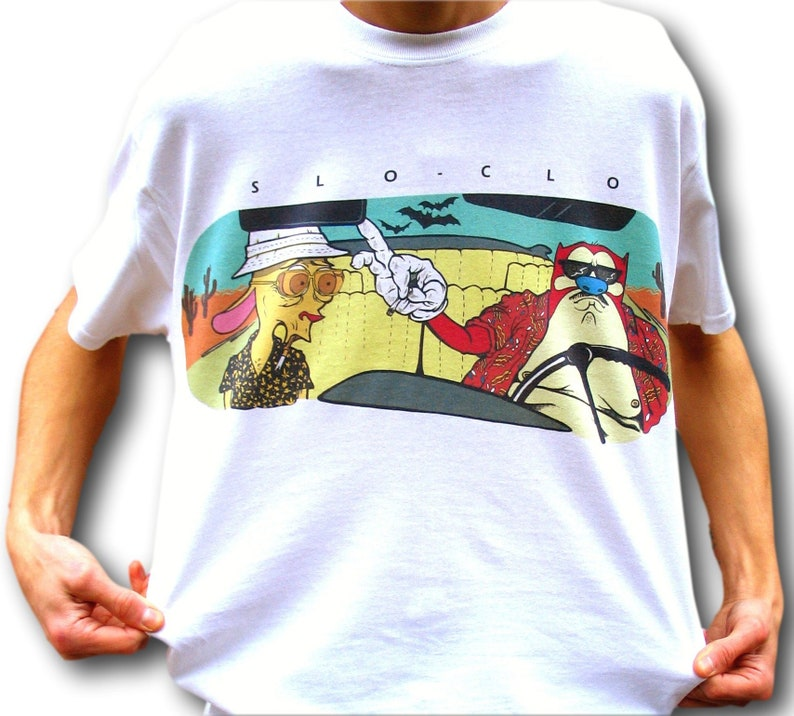 Ren and Stimpy T Shirt Fear and Loathing Hunter S Thompson image 0