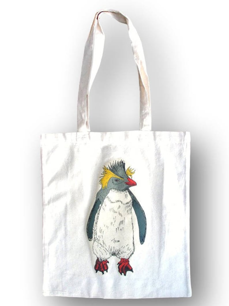 4385f68b4d Penguin Tote Bag Gift For Her Gift Idea Tote Grocery Bag | Etsy