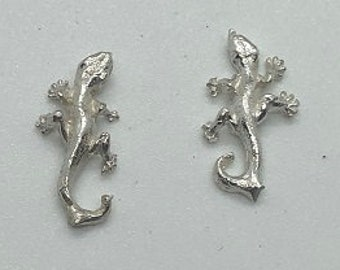 Gecko, 10 Sterling Silver Small Castings for Silversmithing Projects, will make your designs unique, very profitable and easy to sell.