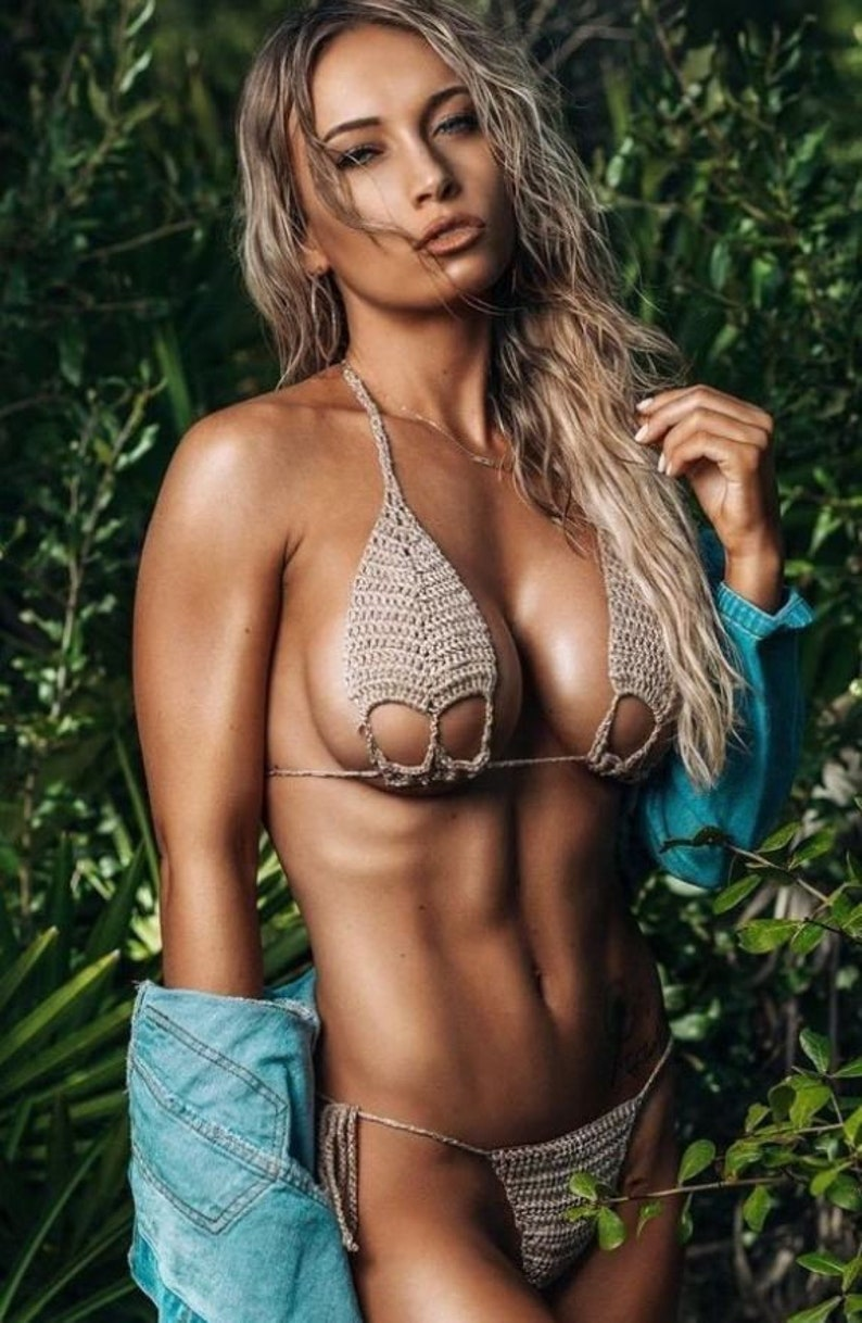 Extreme Micro Bikini Thong Bikini Bottoms Bikini Ribbon  Etsy-5435