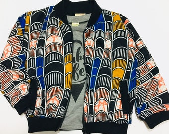 Toddler Bomber jacket African Kids jacket Ankara Bomber jacket