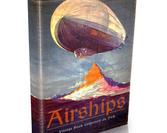 Vintage Airship Books on DVD Graf Zeppelin Dirigibles Hot Air Balloons Aerostat