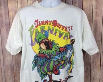 Jimmy Buffett Carnival Concert Tour T-Shirt Tee Vintage Parrot