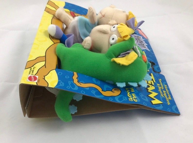 Rugrats Toon Team Reptar Tommy Angelica Vintage Plush Dolls Nickelodeon 1997 Mattel Toys