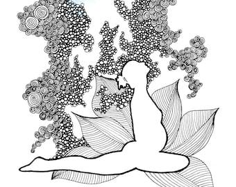 Prenatal Yoga Coloring Page -DIGITAL DOWNLOAD- Adult coloring, Birth affirmations, Mandala, Coloring page, Yoga coloring page, Prenatal yoga