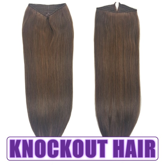 Fits Like A Halo Hair Extensions 20 Medium Ash Brown Etsy