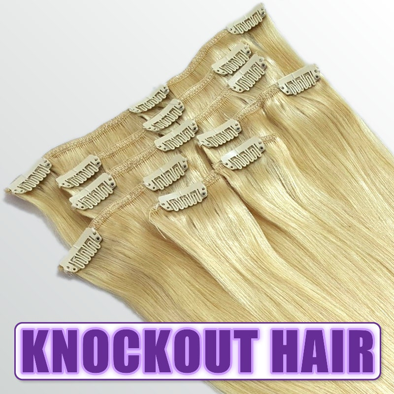 Clip In Human Hair Extensions 18 120 Grams Full Head Remy Premium