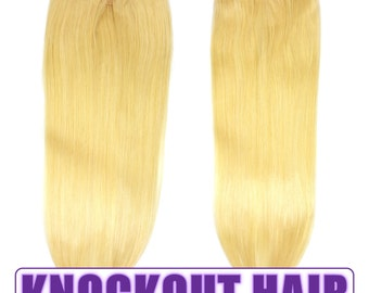 """Fits like a Halo Hair Extensions 20"""" Light Blonde (#613) - Human No Clip In Flip In Couture by Knockout Hair"""