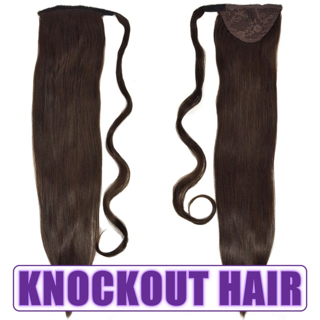 Human Hair Ponytail Extension Wrap 20 80 Grams Remy Etsy