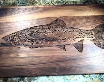 a26feeaad331 Rainbow Trout Cutting Board Serving Tray Trivet