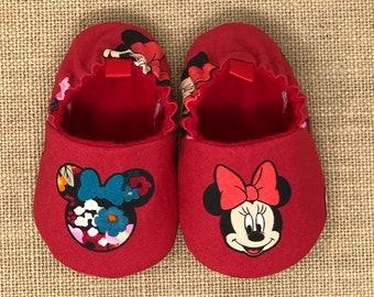 check out b1281 0558d Minnie Maus-Baby-Schuhe Disney Schuhe weiche Sohle | Etsy