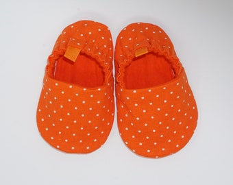 6d64d96e68a Orange baby shoes | Etsy