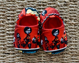 16c5478f1 Incredibles Baby Shoes, Disney Shoes, Soft Sole Baby Shoes, Baby gift, Baby  Shower Gift, Baby Moccs, Baby Slippers, Toddler Shoes, Unisex