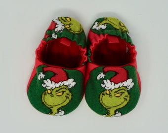 f71a2c970e1 Grinch Baby Shoes