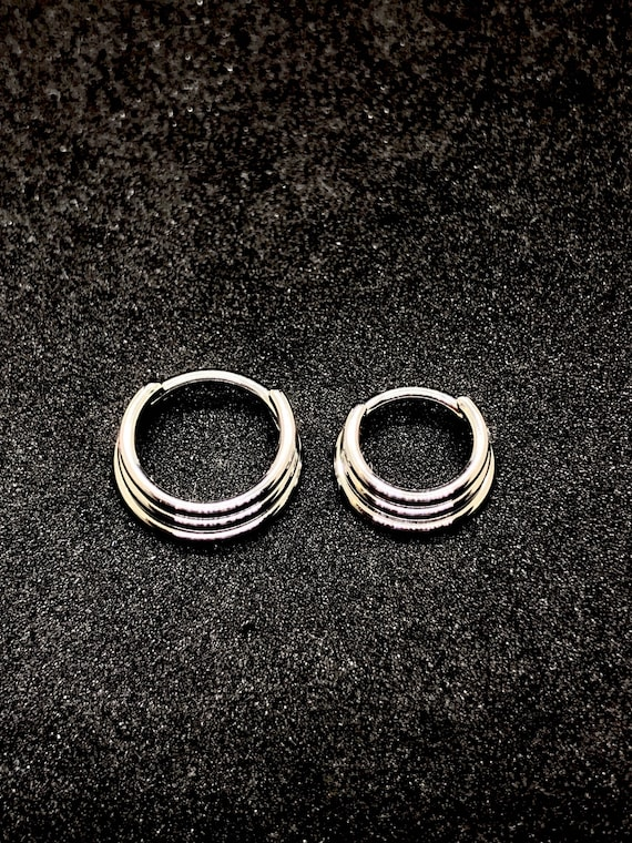 Titanium Triple Septum Ring Hinged Clicker 16g 7mm Or 9mm Etsy