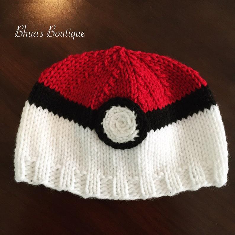 dab375f772755c Pokemon-inspired trainer ball hat pokemon go baby child   Etsy