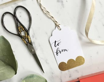 Gift Tags with Calligraphy