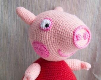 Crochet Peppa Pig Etsy