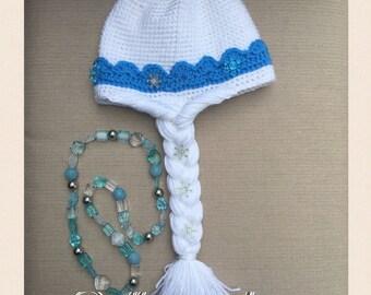Crochet frozen hat etsy elsa frozen crochet hat pattern pdf usa english fandeluxe Images