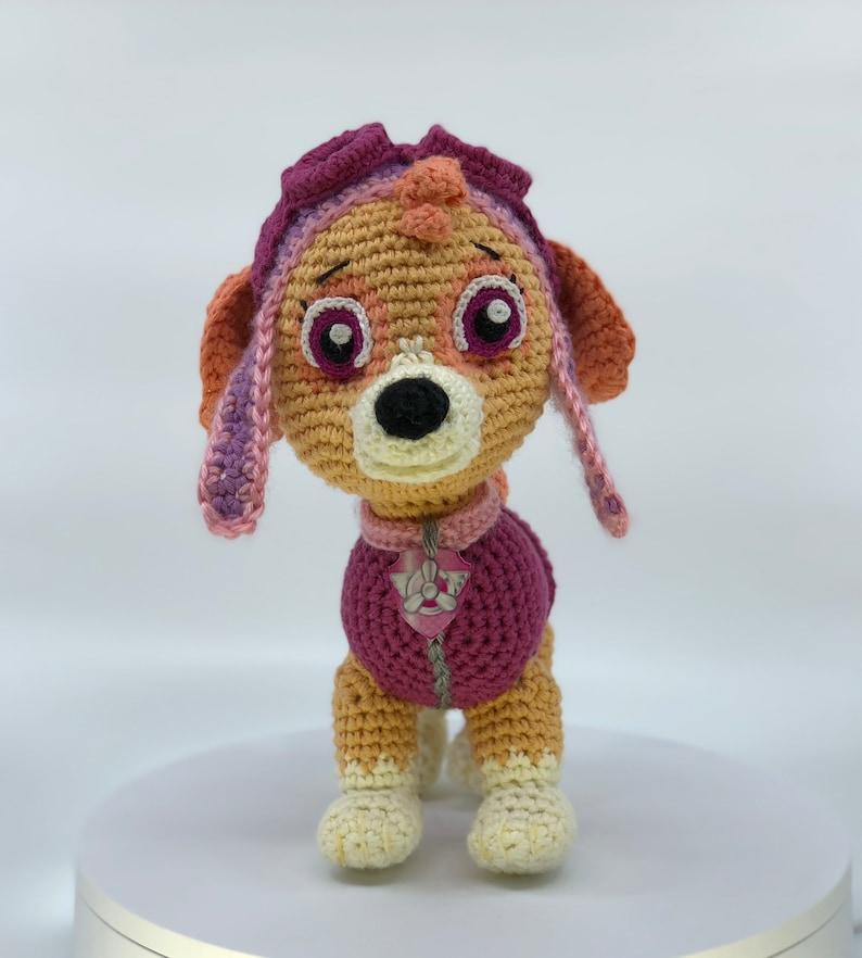 Paw Patrol Skye crochet toy pattern (English), PDF format