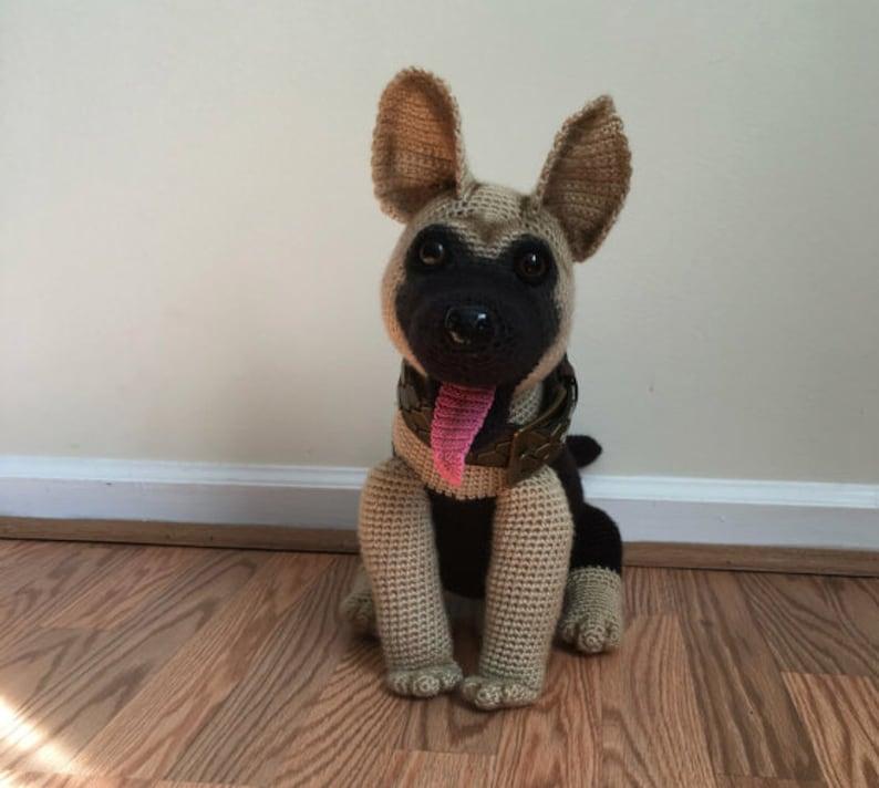German Shepherd dog crochet pattern PDF Dog Crochet pattern image 0