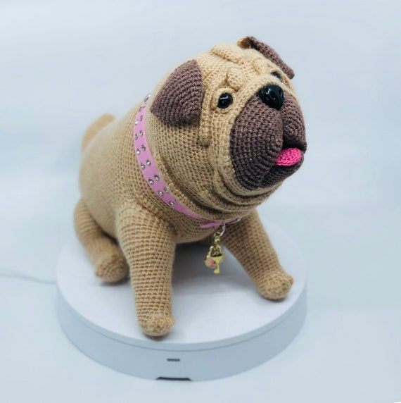 Lifelike Pug Dog Crochet Pattern Pdf English Usa Etsy