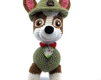 Paw Patrol Tracker crochet pattern  (English), PDF format.