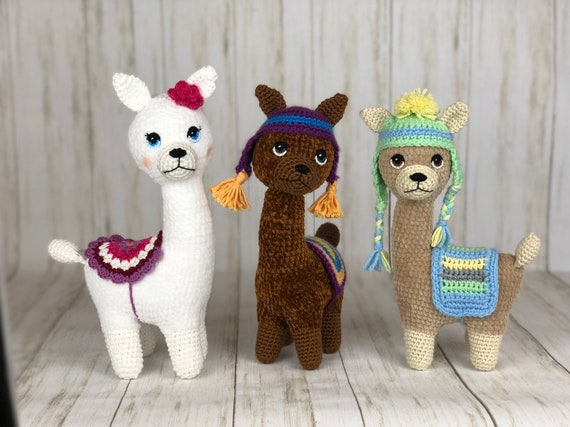 Alpaca Family Amigurumi Crochet pattern by Lucy Collin ... | 427x570