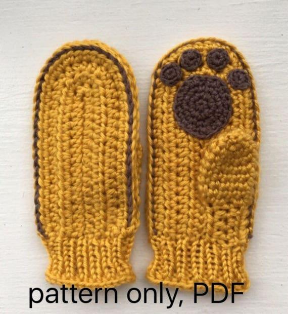 Daniel Tiger Mittens crochet pattern PDF. English USA. Read  d56dbf283ab