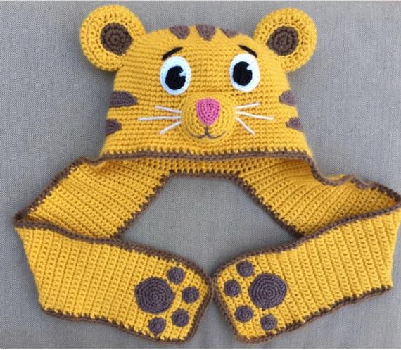 Daniel Tiger hat crochet pattern PDF format. Size 2 years  699f9801d28