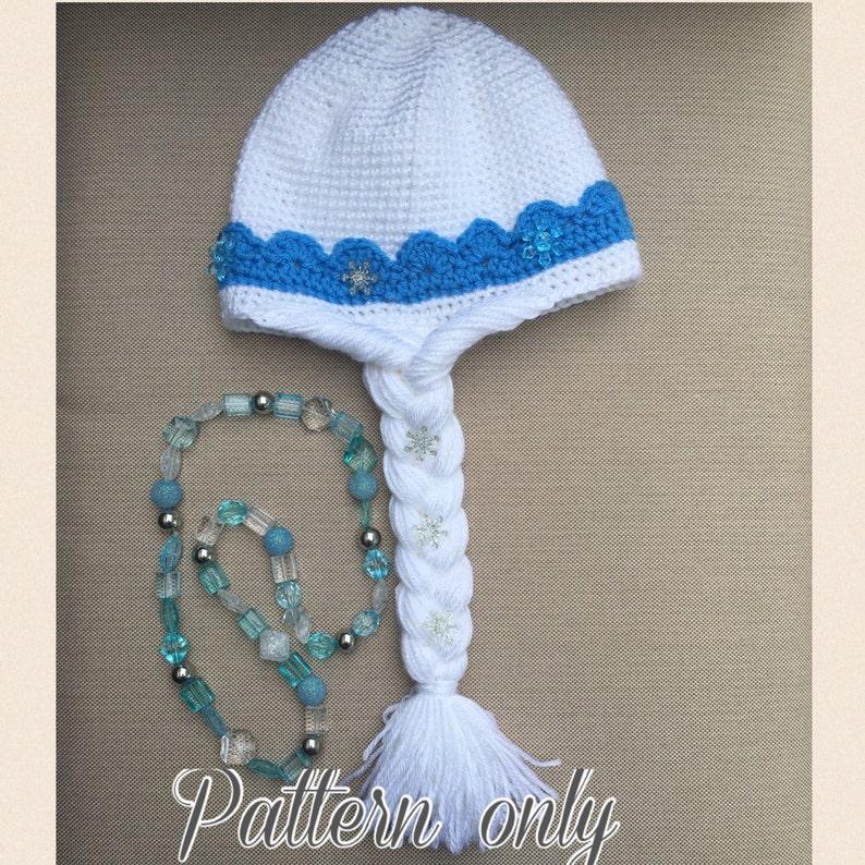 Schema Di Elsa Frozen Uncinetto Cappello Inglese Pdf Usa Etsy