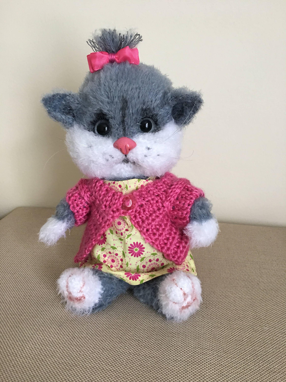 PATTERN - Crochet cat in a pink dress, amigurumi toys, pdf ... | 3000x2250