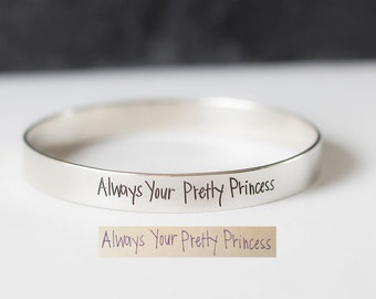 Handwriting Bangle - Personalized Signature Bangle - Memorial Jewelry - Sympathy Gift - Mother's Gift