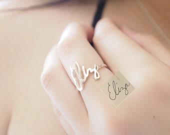 Custom Handwriting Ring - Memorial Signature Ring - Dainty Personalized Handwriting Ring - Keepsake Jewelry - Bridesmaid - MOTHER GIFT