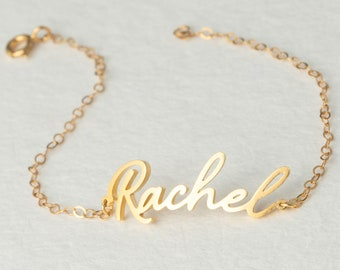 Dainty Name Bracelet - Custom Name Bracelet - Personalized Name Jewelry in Sterling Silver - Perfect Gift for Mom and Sister