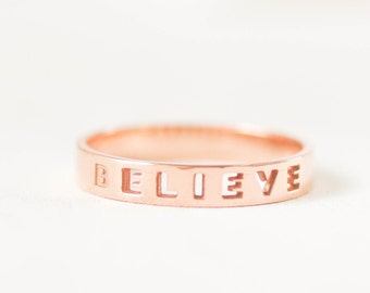 Skinny Name Band - Stacking Name Ring - Custom Sterling Silver - Name Ring Wedding Band - Promise Ring - Anniversary Ring -