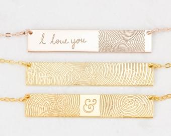 FingerPrint Jewelry - Custom FingerPrint Necklace - Memorial FingerPrint - Loss of Loved One Gift - Memorial VALENTINES GIFTS