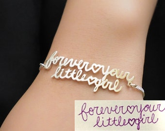 Custom Handwriting Jewelry - Actual Handwriting Bracelet - Signature Bracelet - Memorial Bracelet - Personalized Jewelry - Mother's Gifts