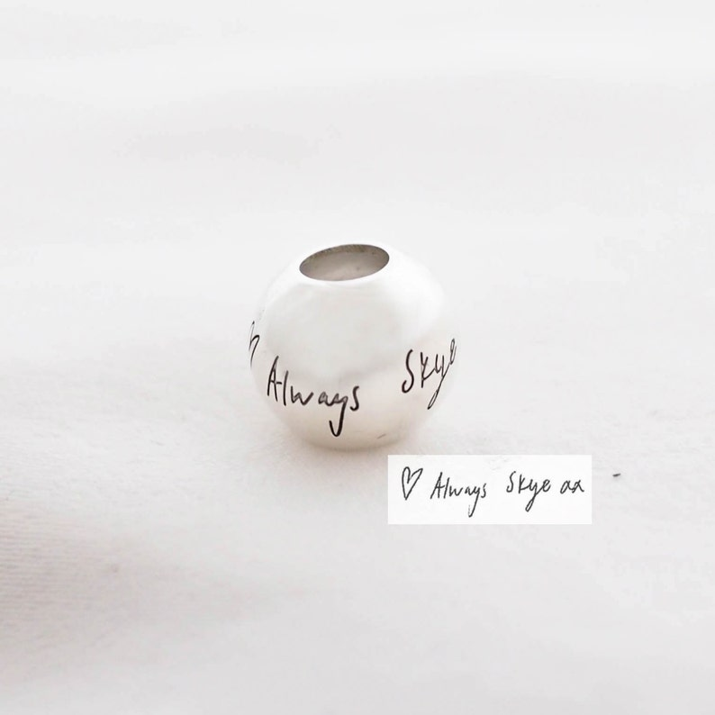 Handwriting Charm Pandora Bracelet Signature Charm in Sterling ... a52575e79be