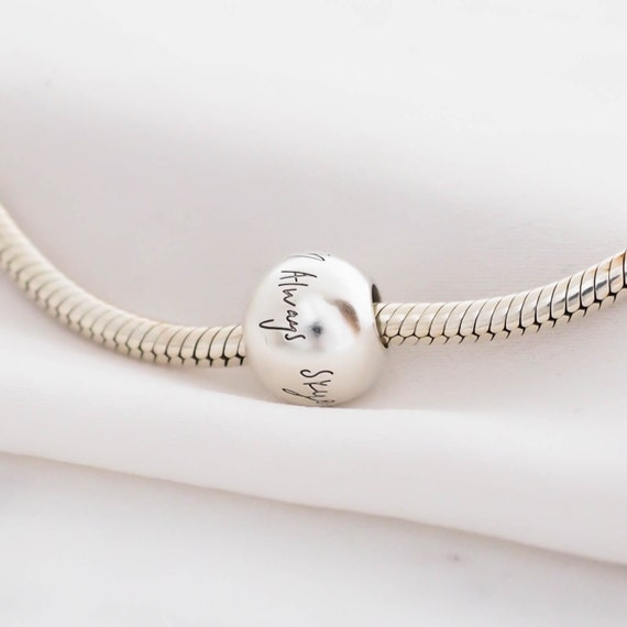 Actual handwriting sterling silver charm bracelet Signatures personalized in 925 sterling silver \u2022  Custom Engraved Memorial jewelry