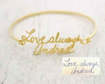 Signature Bangle - Actual Handwriting Bangle - Memorial Bangle - Personalized Jewelry - Personalized Gifts - Memento Gift