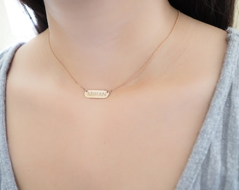 30% OFF -- Bar Name Necklace - Bar Name Jewelry - Personalized Bar Necklace -  Bridesmaid Gift - Wedding Gift