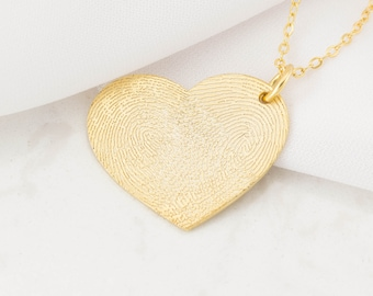 Fingerprint Jewelry - Actual Fingerprint Necklace - Custom Fingerprint - Personalized Gift - Memorial Fingerprint Necklace