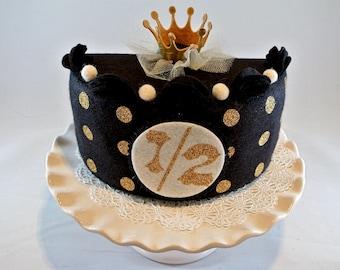 Felt Cake Half Birthday Cakephoto Prop Girls 1 2 Baby Photo Smash