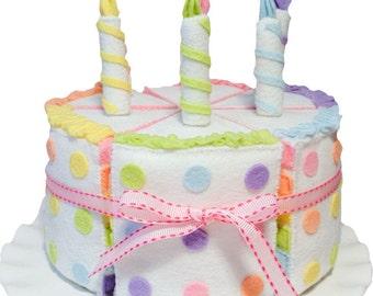 Felt Cake Set Rainbow Food Party Decor Toy Pretend Toys Birthday Gift