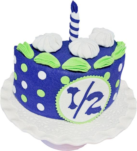 Half Birthday Cake Set Bluelime Felt Cakebirthday Photo Etsy
