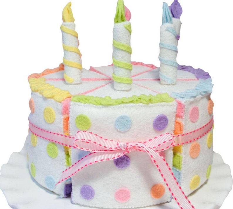 Felt Cake Set Rainbow Food Party Decor